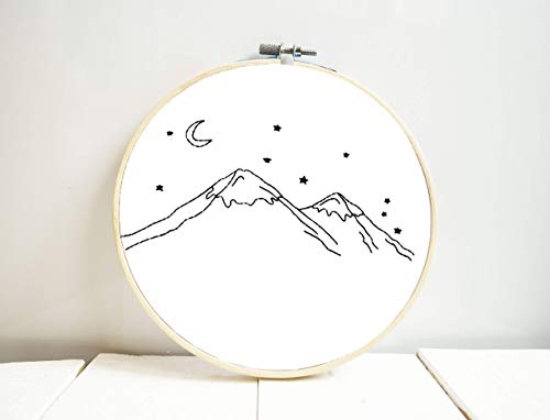 - Mountain wall decor living room Mountain embroidery hoop art Wanderlust bedroom decor Wall hanging Hand embroidered Nursery room gift designs Artwork