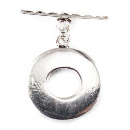 rling Silver Toggle Round Heart Miligrain Design 1 piece (Heart Toggle 1 Piece)