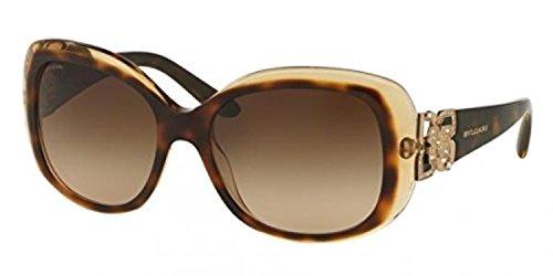 Bvlgari Women's BV8172BF Sunglasses Top Havana / Brown Cr...
