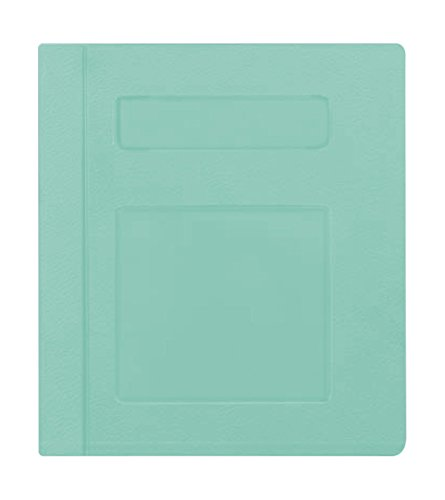 PDC Healthcare CBS10SG Poly Binder, Side Open, 3-Ring, Blank Front, 2'', Seafoam by PDC Healthcare (Image #1)