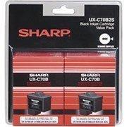 2 Pack Sharp UXC70B (UX-C70B) Black OEM Genuine Inkjet/Ink Cartridge (500 Yield) - Retail (Sharp Uxc70b compare prices)