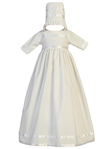 Baby Girls Cotton Long Special Occasion Gown with Embroidered Shamrocks (3-6 (Shamrock Gown)