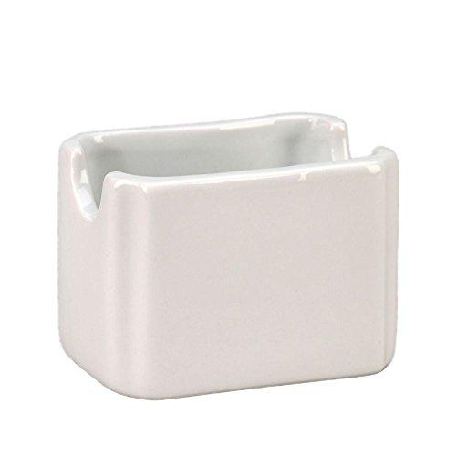 Cs White Undecorated Dinnerware - Vertex China SPH-P Argyle White Sugar Packet Holder - 48 / CS