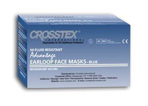 Crosstex GCABL Advantage Ear Loop Mask, Latex-Free, Blue (Pack of 500)