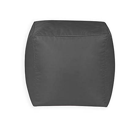 Bean Bag Bazaar Cubo Puf - 38cm x 38cm, Reposapiés Grande para Interiores y Exteriores (Gris, 1): Amazon.es: Hogar