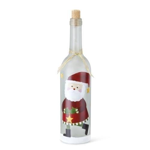 Demdaco Lit Santa Wine Bottle Decor 2020160078