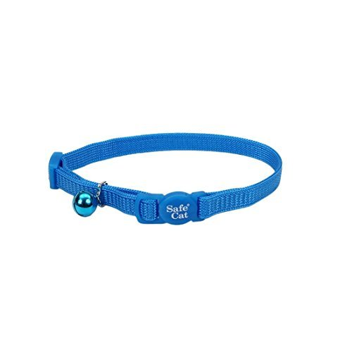 (Coastal Pet Products Nylon Safe Cat Adjustable Breakaway Collar with Bell, 8-12