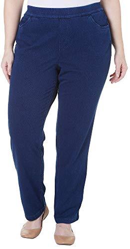 (Erika Plus Joey Stretch Denim Pants 2X Libra wash Blue)