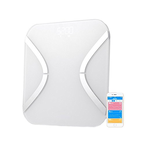 Fat Scale, PYRUS Digital Body Fat Analyzer Bathroom Scale Syncyour Weight Data with the Phone by PYRUS