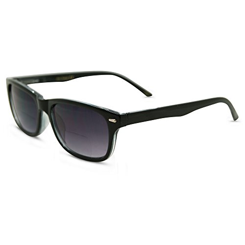 In Style Eyes Seymore Wayfarer BiFocal Sunglasses for Both Men & Women Black 1.75