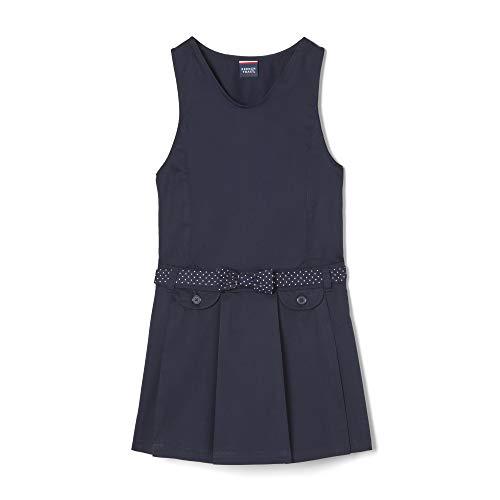French Toast Girls'  Belted Jumper, navy, 12,Big - Lightweight Uniform Belted