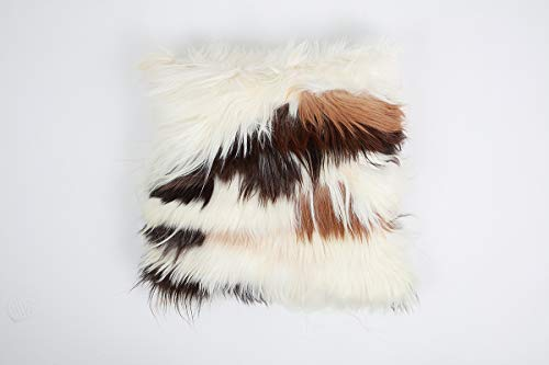 Gaucho Cowhides Natural Goat Hair Pillow Cover - Sophisticated & Elegant - 20x20 Inches