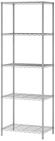 HOMEFORT 5-Tier Wire Shelving 5 Shelves Unit Metal Storage Rack Durable Organizer Perfect for Pantry Closet Ki