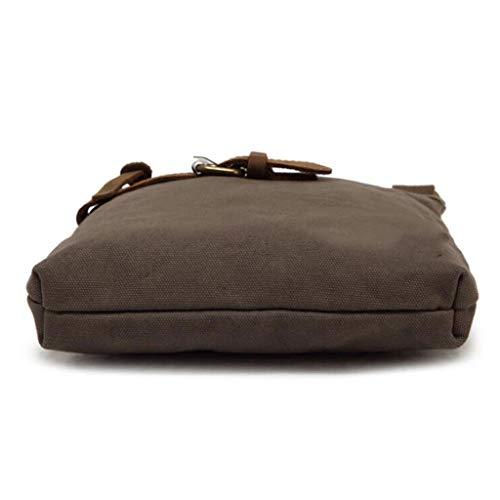 Banlieue Épaule De Bag Size Paquet Simple 23 57 Taille Kaki 46 Green 8 Zipper 1 couleur Messenger Toile Po Imperméable Rétro Hommes 10 One vBAWxqw5w