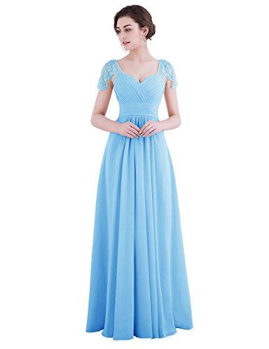 Dresstells®Vestido De Fiesta Para Boda Mujer Largo Escote Corazón Azul