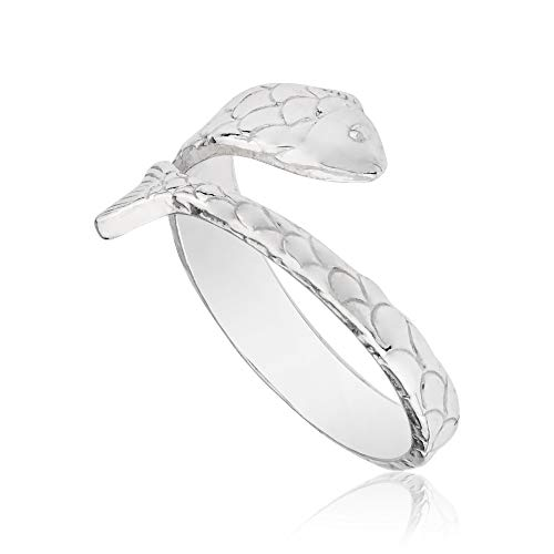 Sterling Fish - Alex and Ani Ring Wrap, Fish, Sterling Silver Stackable Ring, Size 5-7