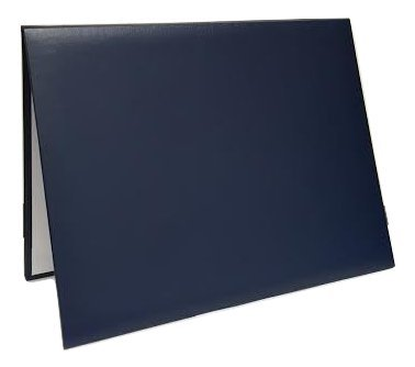 Diploma Certificate Cover - Document Holder, 8.5'' x 11'', Leatherette, Navy Blue