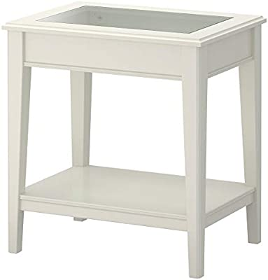 LIATORP - Mesa Auxiliar (Cristal), Color Blanco: Amazon.es: Hogar