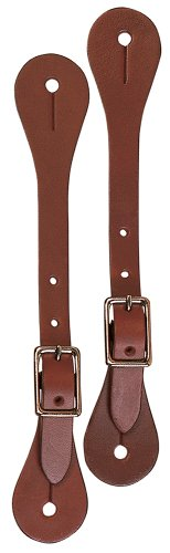 Weaver Leather Women's Single-Ply Spur Straps, Rich (Good Hope Ladies Leather)