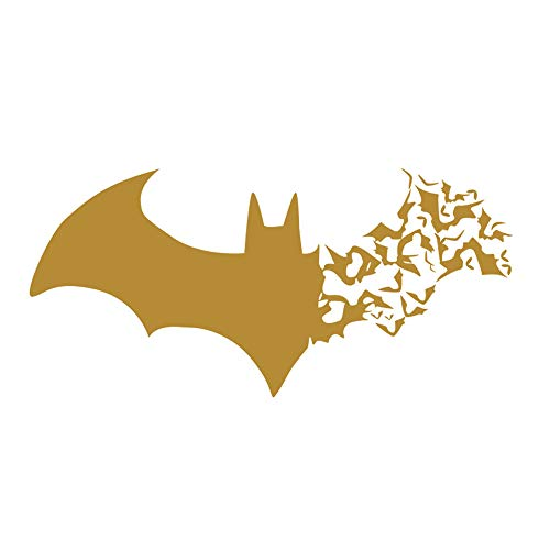 Ayangg Halloween Decoration Bat Shape Festive Trick or Treat Party Party Supplies Halloween Haunted House Prop Decor - Gold for $<!--$6.49-->