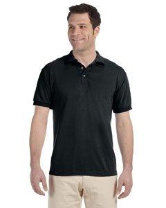 Jerzees 5.6 oz. 50/50 Blended Jersey Polo, Black, X-Large
