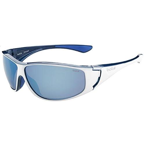 Bolle Highwood Sunglasses, Polarized Offshore Blue Oleo AR, Shiny White/Blue
