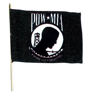 Fox Outdoor 84-71 12 x 18 in. Pow Mia Flag On Stick by Fox Outdoor