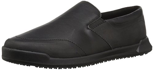Shoes For Crews Men's Mason Slip Resistant Driving Style Loafer, Black, 12 Wide US