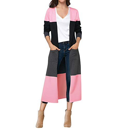 Price comparison product image Womens Long Cardigan, Cenglings Long Sleeve Striped Knitted Tops Ladies Autumn Jacket Shirts Trench Coat