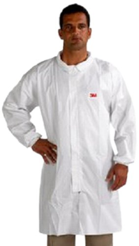 3M Disposable Lab Coat 4440, Polypropylene, 4X-Large, White 4440-4XL