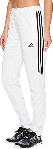 adidas Womens Soccer Tiro 17 Training Pants, White/Black, Small