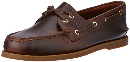 Sperry Mens A/O 2-Eye Boat Shoe, Amaretto, 11.5 Wide (Crap Eye Wear)