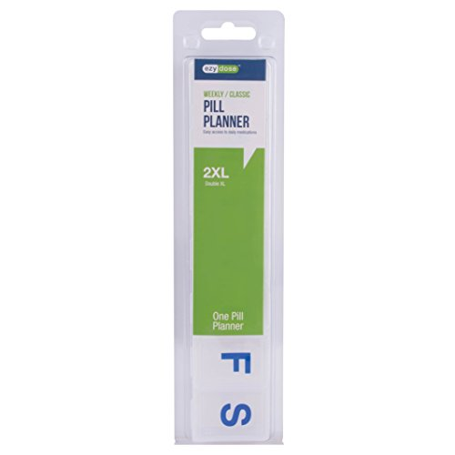 Ezy Dose Weekly Classic Pill Planner, 2XL