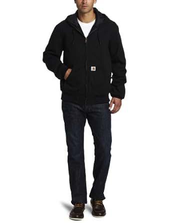 Carhartt Men's Ripstop Active Jacket Quilt Lined,Black,Small