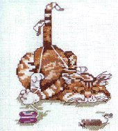Janlynn Counted Cross Stitch Kit - Fit to be Tied - Cat in yoyo string