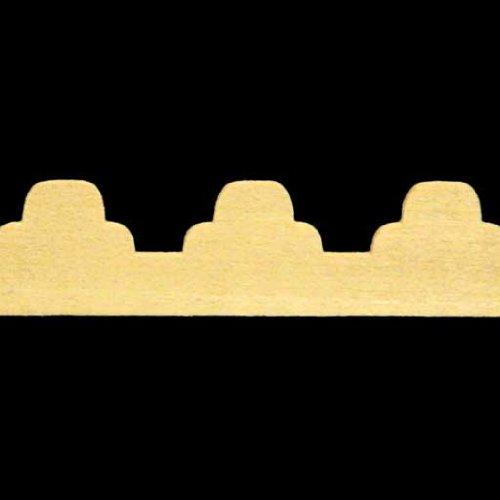 Triple Scallop - Dollhouse Miniature Triple Scallop Gingerbread Trim
