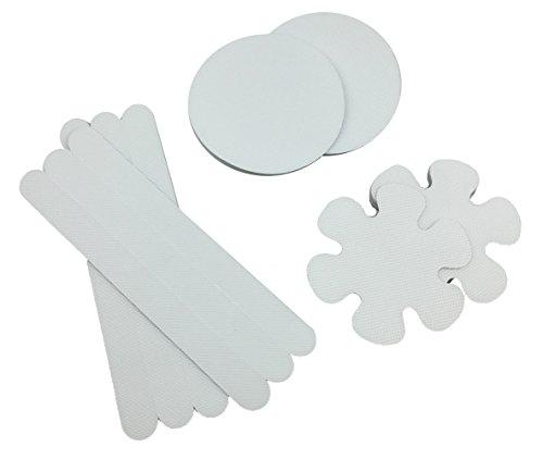 es Non-Slip Bathmats Round Flower Strip Shower Treads Bathtub Decals Self-Adhesive Tape ()