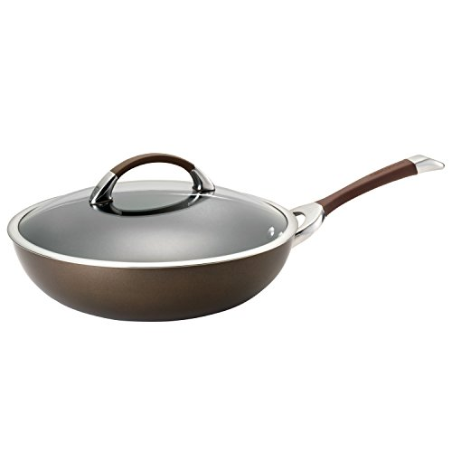 Circulon Aluminum Skillet (Circulon Symmetry Hard-Anodized Nonstick 12-Inch Covered Essential Pan, Chocolate)