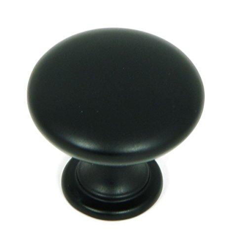 Stone Mill Hardware CP2175-MB Matte Black Round Cabinet Knob,