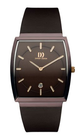 Stainless Steel Men's Watch with Brown Band and Case [Watch] Danish Design