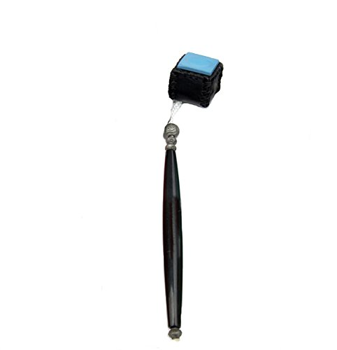 Snooker/Pool Cue Carrying Leather Chalk Holder, Black