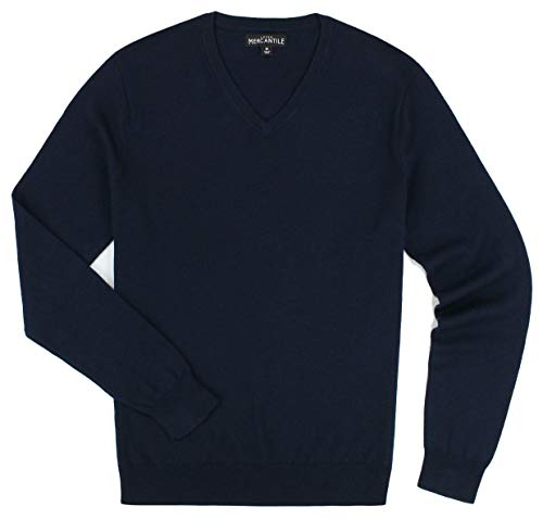 J. Crew - Men's - Merino Blend V-Neck Sweater (Multiple Color/Size Options) (Large, Navy) ()