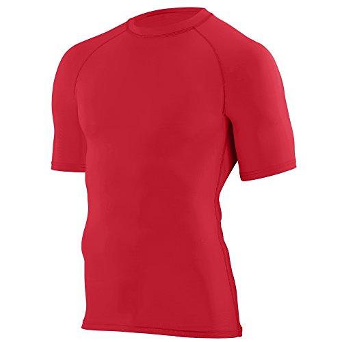 Augusta Sportswear Boys' Hyperform Compression Short Sleeve Shirt M Red ()