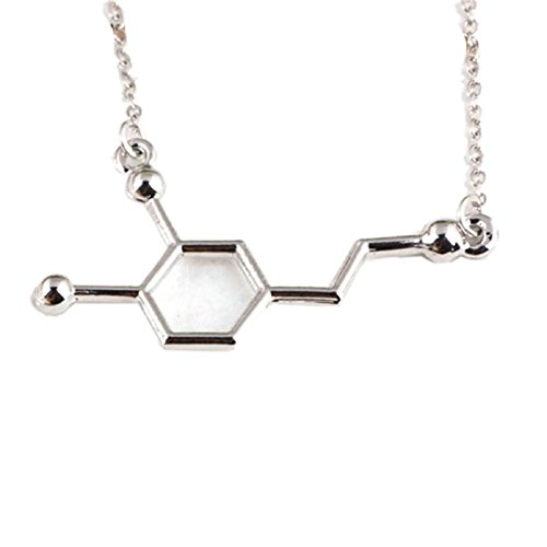 Tonsee Dopamine Biochemistry Molecule CATOP Chemical Structural DNA Necklace