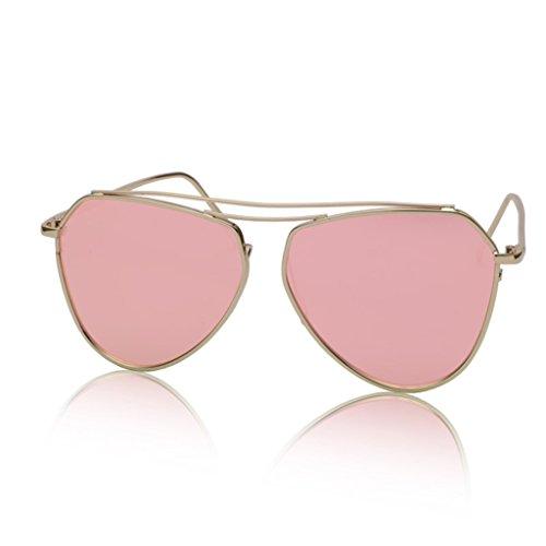6 Memoria Metal Personalizado de Reflectante Sunglasses Aviador 4 de Lente Gafas w4xYISqv