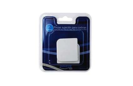 Decorplas xxi M128053 - Pinza baño sujeta-cortinas blanco