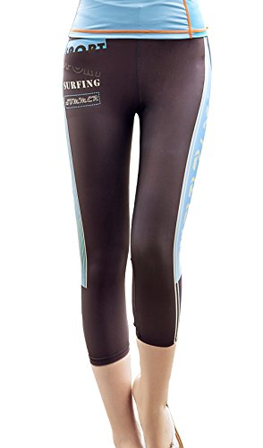 b4a92e715285c Rash Guard Legging,DIVE & SAIL Women Swim Surf Capri Pants UPF 50+ Sun