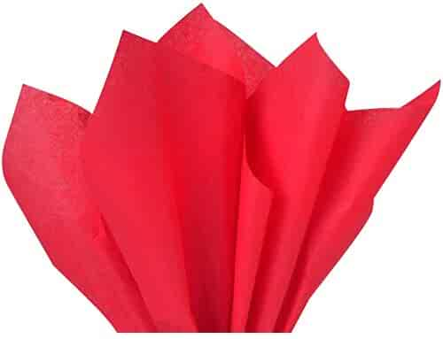 Red Tissue Paper 15 Inch X 20 Inch - 100 Sheet Pack