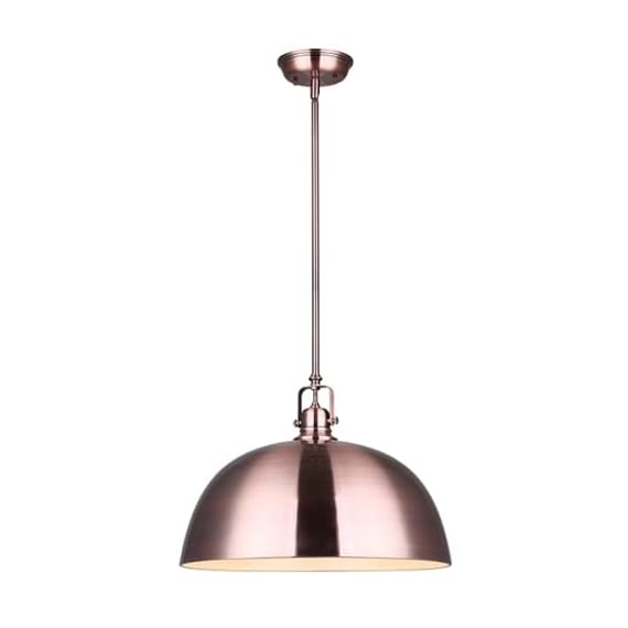 "CANARM ICH587A03BN17 Rue 3 Bulb Chain Chandelier, 24"" x 17"" x 24"", Brushed Nickel with Flat Opal Glass -  - kitchen-dining-room-decor, kitchen-dining-room, chandeliers-lighting - 31f02mTd7UL. SS570  -"