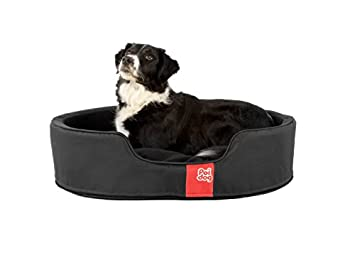 0a74812b05a0 Image Unavailable. Image not available for. Colour: Poi Dog Luxury Oval  Black Dog Bed - Nest Black Dog Beds ...